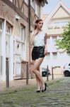 Lisa in black miniskirt 8