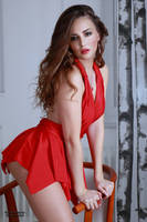 Jana in red dress 1 by PhotographyThomasKru