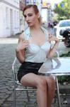 Lisa in black miniskirt 20