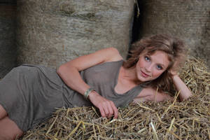 With Anna in the hay 3 by PhotographyThomasKru