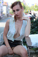 Lisa in black miniskirt 42 by PhotographyThomasKru