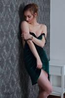 Henriette in a green dress 20 by PhotographyThomasKru