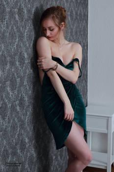 Henriette in a green dress 20