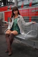 Emelie at the station 5 by PhotographyThomasKru
