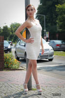 Lisa in white dress 3 by PhotographyThomasKru