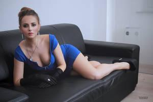 Jana in blue dress 1 by PhotographyThomasKru