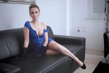 Jana in blue dress 6 by PhotographyThomasKru