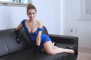 Jana in blue dress 8 by PhotographyThomasKru