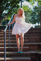 Vanessa S in summer dress 2 by PhotographyThomasKru