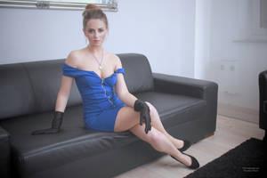 Jana in blue dress 17 by PhotographyThomasKru