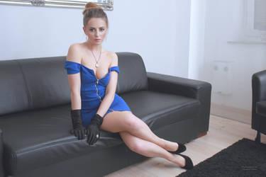 Jana in blue dress 18 by PhotographyThomasKru