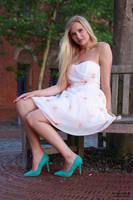 Vanessa S. in summer dress 12 by PhotographyThomasKru