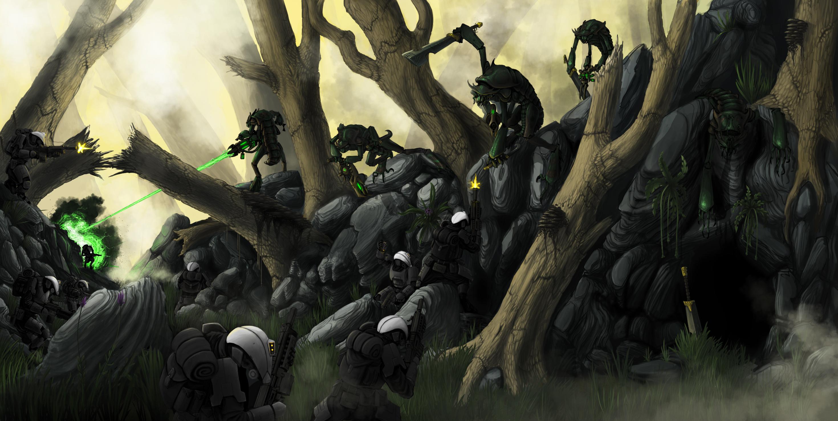Battle for Illikar Valley by corndoggy