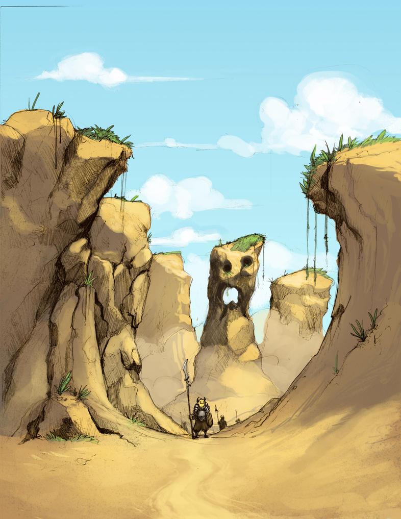 Canyon Sketch by Earl-Graey on DeviantArt