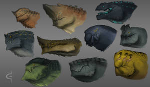 Monster busts