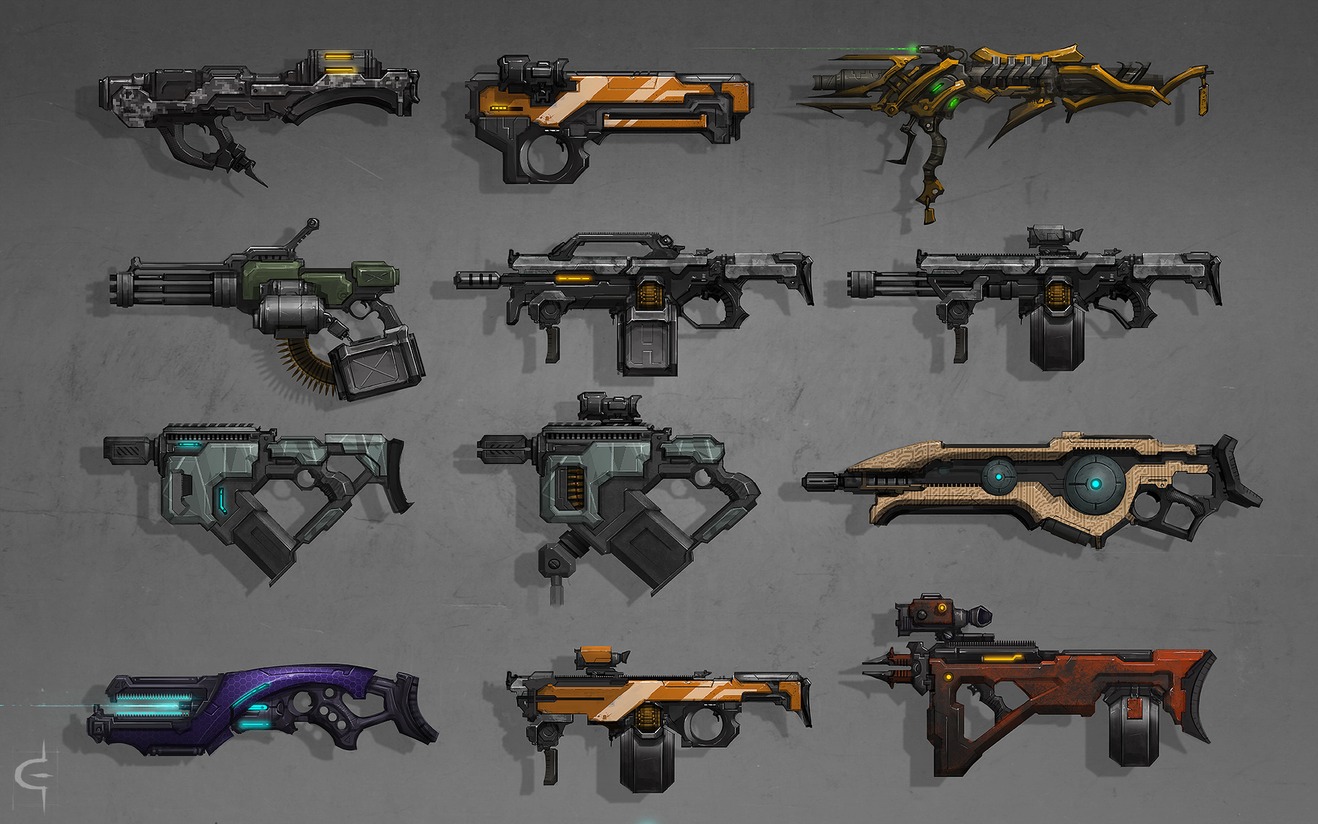 Gun Concepts 2 by corndoggy