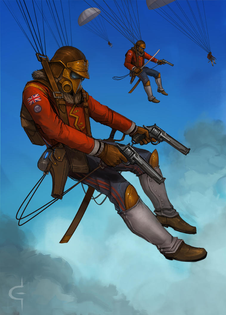 Ministry Paratroopers by corndoggy