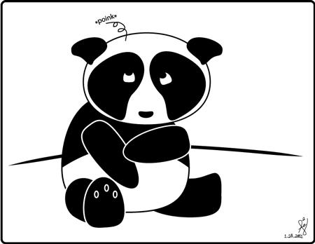 Bad hair Panda by mystikalyx