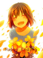 Frisk Happy End by chacadriox