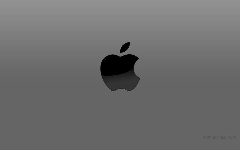 Apple Logo Wallpaper Grey By Kremalicious