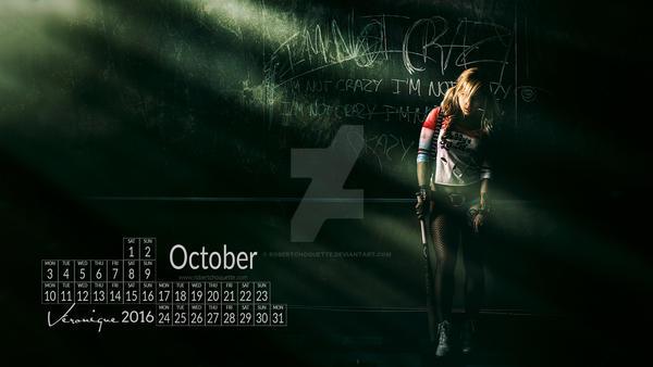 Free Desktop/Tablet Wallpaper Calendar. Oct. 2016 by robertchoquette