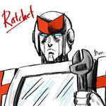 Transformers G1-Ratchet by eh7150