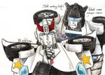 Transformers G1-Prowl and Jazz