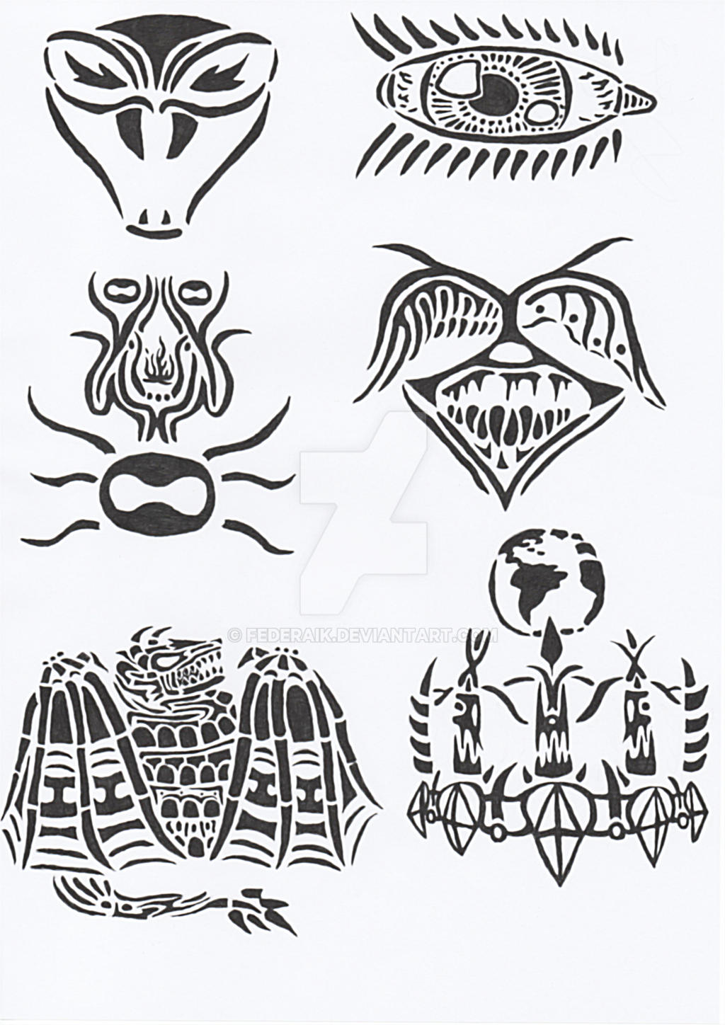 tribal tattoo by federaik on deviantart. Black Bedroom Furniture Sets. Home Design Ideas