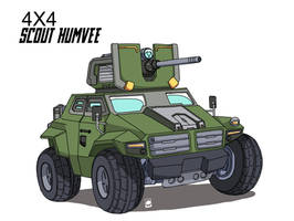 Military Vehicle 4x4 scout Humvee by sharknob
