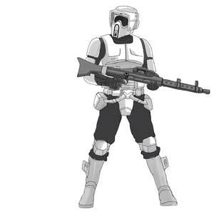 Starwars doodle Scout trooper