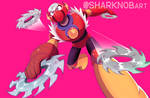 METAL MAN megaman sharknob sharknobart