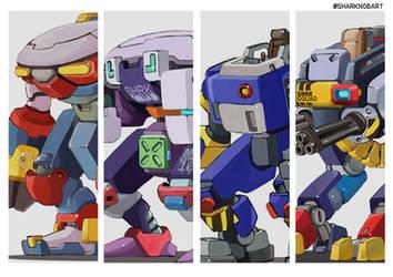 Shark-Squad-mecha-robots