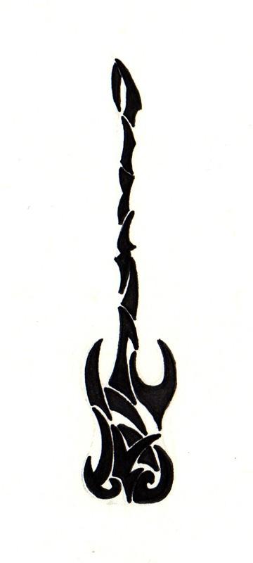 Guitar Tattoo Stencil Golfclub