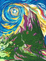Purple Mountain Redux by unshakentomato