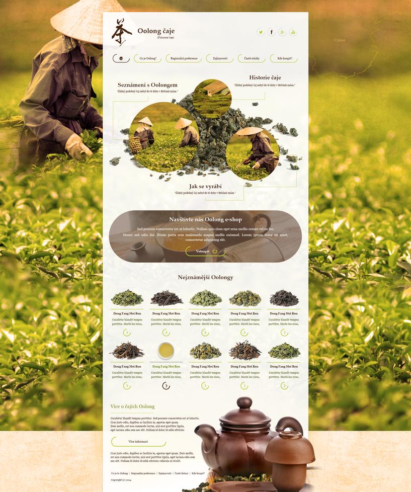 Oolong tea microsite by JakubSpitzer