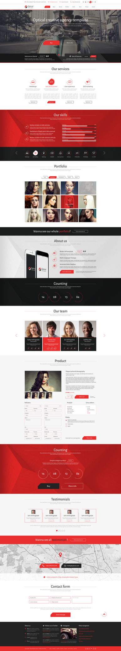 Optical Wordpress template by JakubSpitzer