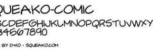 Squeako Comic Book Font