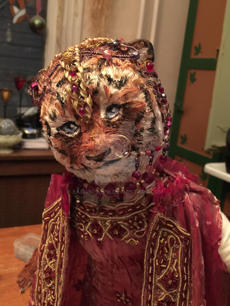 Tiger bride with jewelry by badgersoph