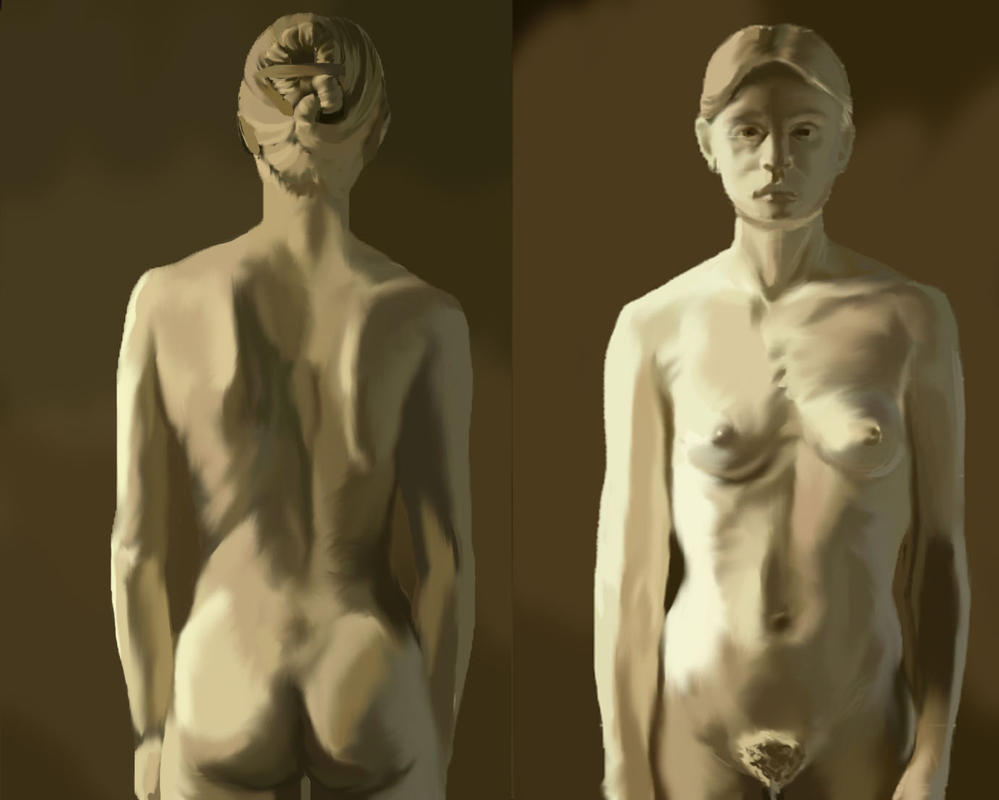 Woman sculpture practice by Be-Fury
