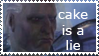 STAMP: Cake is a lie by christophernicol