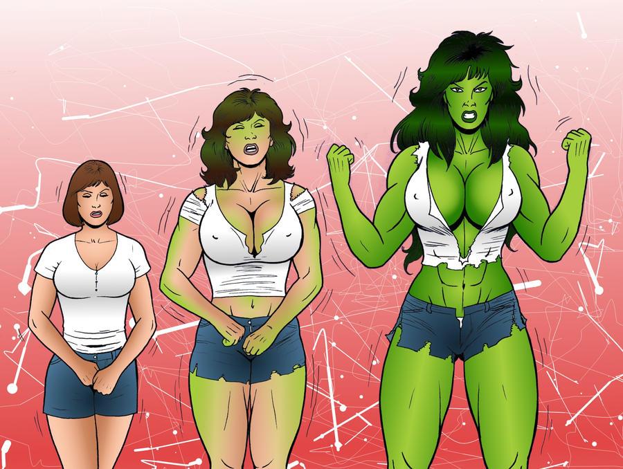 DeviantArt: More Like She Hulk Transformation by RamonVillalobos