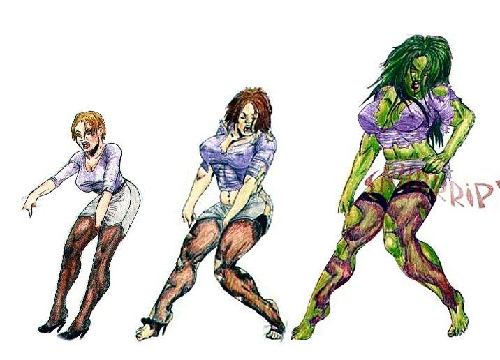 She Hulk Transformation Sequence