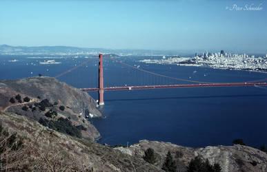 San Francisco Bay siluettes.