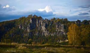 Cliffs in autumn.
