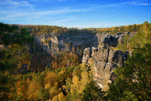 Cliffs in autumn colours. by Phototubby