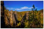 Cliffs in autumn robe.