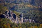 Rocks in autumn colors.