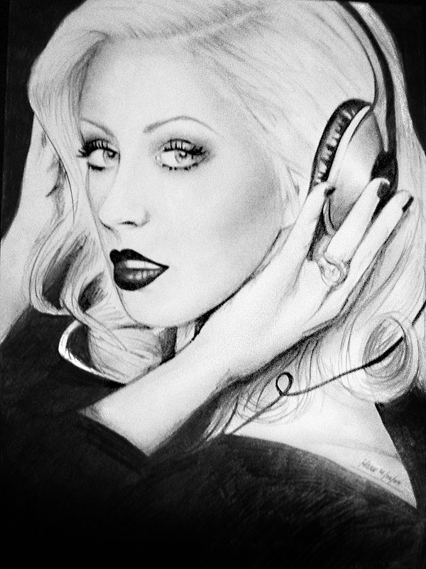 Christina Aguilera Drawing By Emmanuel Cepeda On Deviantart