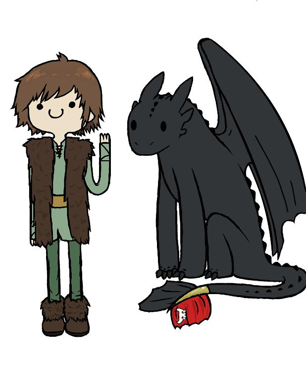 Hiccup and toothless adventure time style by snappieta
