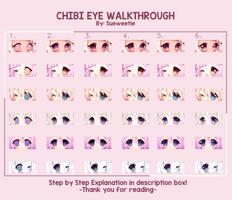 Simple Chibi Eye Walkthrough + Explanation by Sueweetie